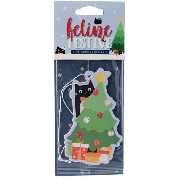 Festive Feline Tree Cat Cinnamon Spice Osviežovač vzduchu 1 - pre milovníkov mačiek
