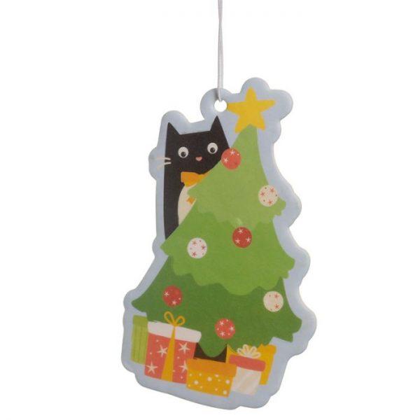 Festive Feline Tree Cat Cinnamon Spice Osviežovač vzduchu 3 - pre milovníkov mačiek