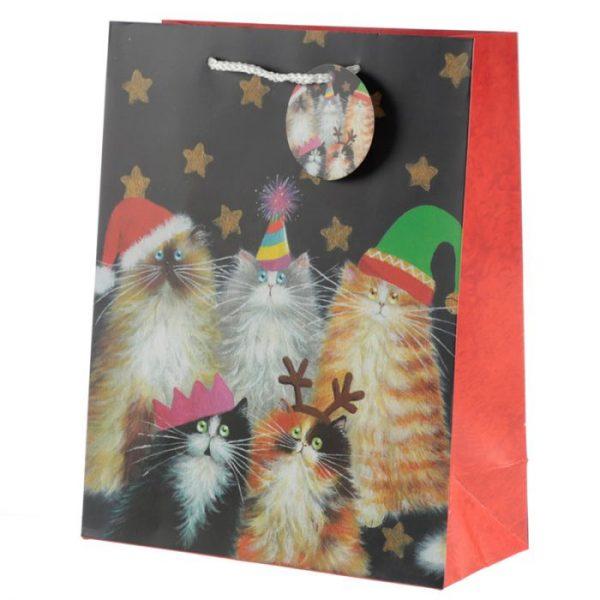 Kim Haskins Vianočné mačacie Darčeková taška - veľká 1 - pre milovníkov mačiek