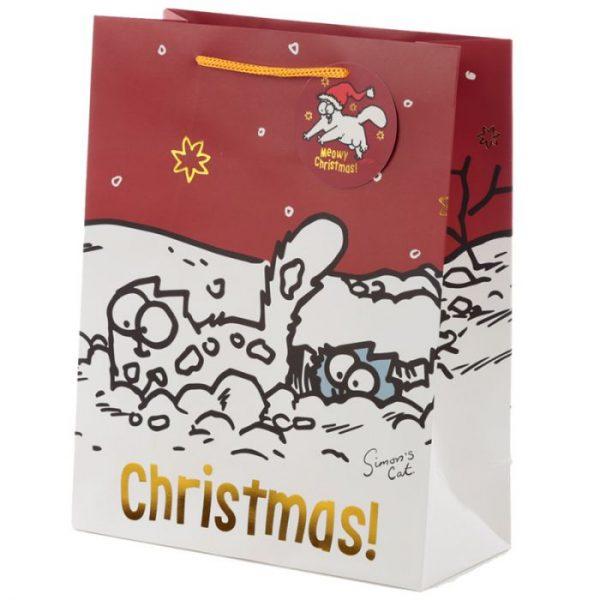 Veľká darčeková taška Vianoce Simon's Cat - Simonova mačka 1 - pre milovníkov mačiek