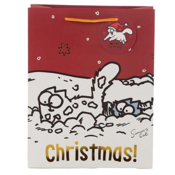 Veľká darčeková taška Vianoce Simon's Cat - Simonova mačka 2 - pre milovníkov mačiek