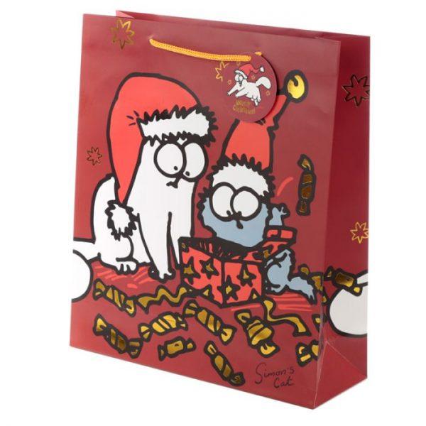Extra veľká darčeková taška Vianoce Simon's Cat - Simonova mačka 1 - pre milovníkov mačiek