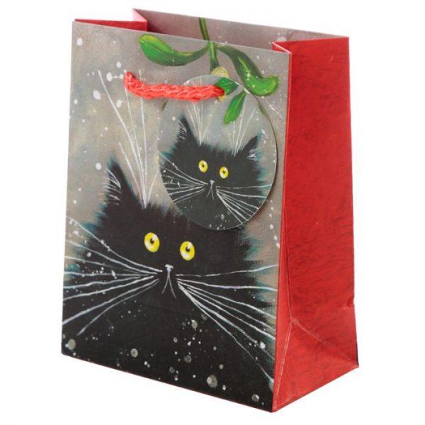 Malá darčeková taška s motívom mačičky Kim Haskins 1 - pre milovníkov mačiek