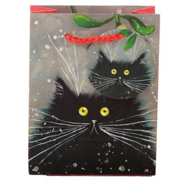 Malá darčeková taška s motívom mačičky Kim Haskins 2 - pre milovníkov mačiek
