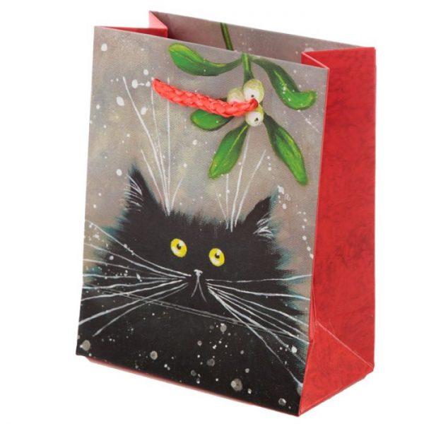 Malá darčeková taška s motívom mačičky Kim Haskins 3 - pre milovníkov mačiek