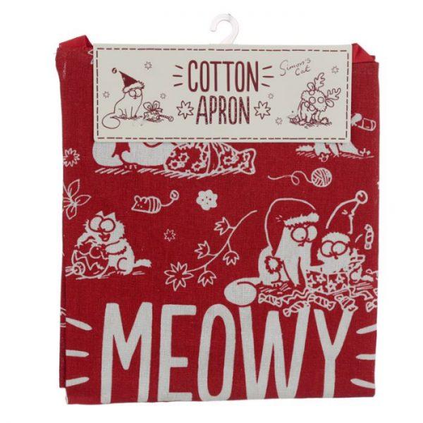 Zástera polobavlněná - Simon's Cat MEOW Vianočná 5 - pre milovníkov mačiek
