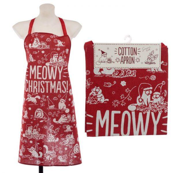 Zástera polobavlněná - Simon's Cat MEOW Vianočná 4 - pre milovníkov mačiek