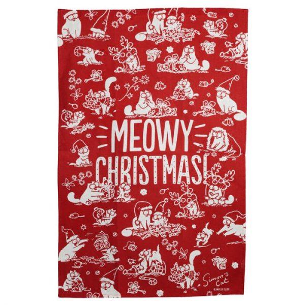 Uterák polobavlněný - Simon's Cat MEOW Vianočný 3 - pre milovníkov mačiek