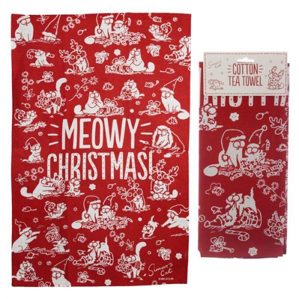 Uterák polobavlněný - Simon's Cat MEOW Vianočný 1 - pre milovníkov mačiek