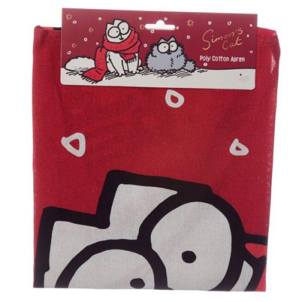 Polobavlnená kuchynská zástera s vianočným motívom Simon's cat 5 - pre milovníkov mačiek
