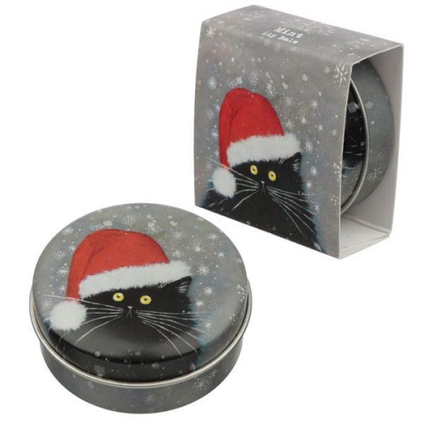 Kim Haskins Vianočný balzam na pery 4 - pre milovníkov mačiek