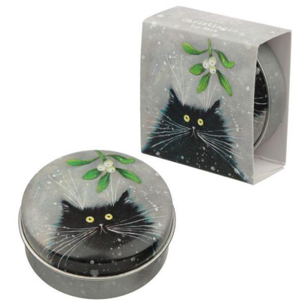 Kim Haskins Christmas Cat Balzam na pery v plechovke- Christingle 1 - pre milovníkov mačiek