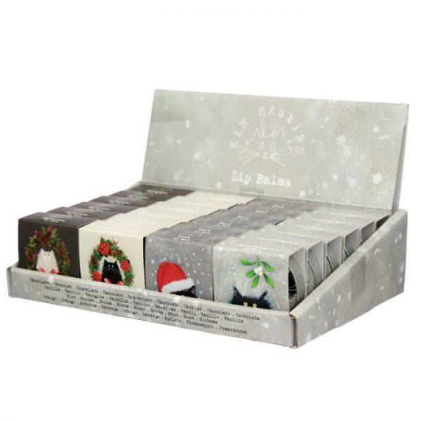 Kim Haskins Christmas Cat Balzam na pery v plechovke- Christingle 2 - pre milovníkov mačiek