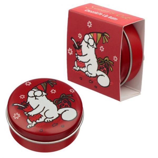 Simon's Cat Christmas Cat Balzam na pery v plechovke - Čokoláda 4 - pre milovníkov mačiek