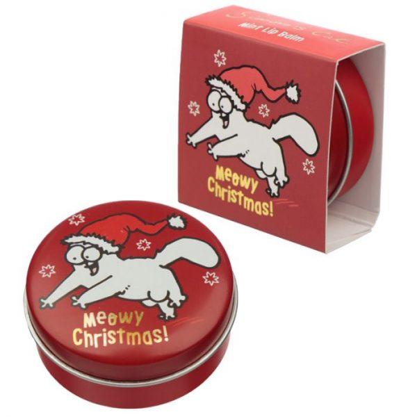 Simon's Cat Christmas Cat Balzam na pery v plechovke - Čokoláda 7 - pre milovníkov mačiek