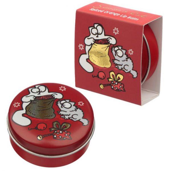 Simon's Cat Christmas Cat Balzam na pery v plechovke - Čokoláda 2 - pre milovníkov mačiek