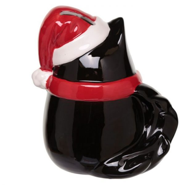 Feline Festive Vianočná Mačka - Keramická Pokladnička 3 - pre milovníkov mačiek