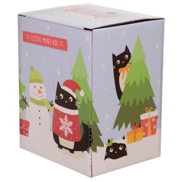 Feline Festive Vianočná Mačka - Keramická Pokladnička 2 - pre milovníkov mačiek