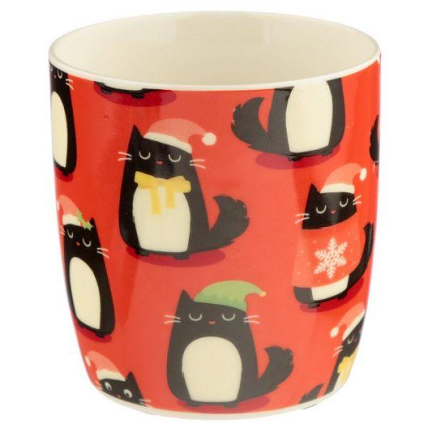 Feline Festive Cat Porcelánový hrnček 5 - pre milovníkov mačiek