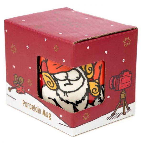 Porcelánový hrnček Simon's Cat s vianočným motívom 4 - pre milovníkov mačiek
