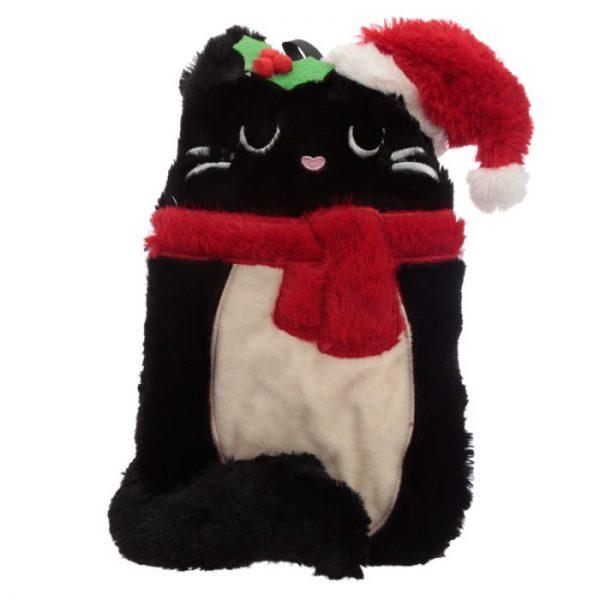Feline Festive Vianočná Mačka 1L plyšová fľaša na horúcu vodu - termovankúšik 4 - pre milovníkov mačiek