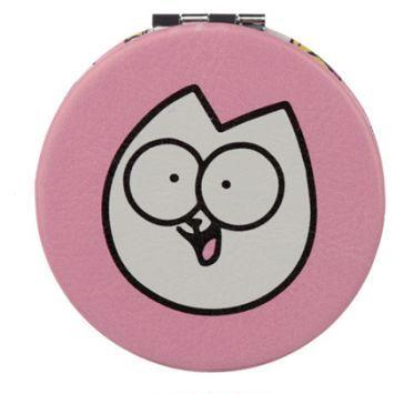 Rúžové kompaktné zrkadielko s motívom Pawsome Simon´s cat 1 - pre milovníkov mačiek