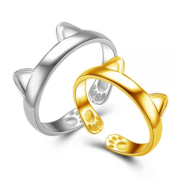 Ring - cat's ears - Gold 1 - pre milovníkov mačiek