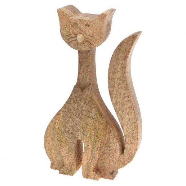 Drevená záhradná dekorácia - mačka, 34 x 17 cm 1 - pre milovníkov mačiek