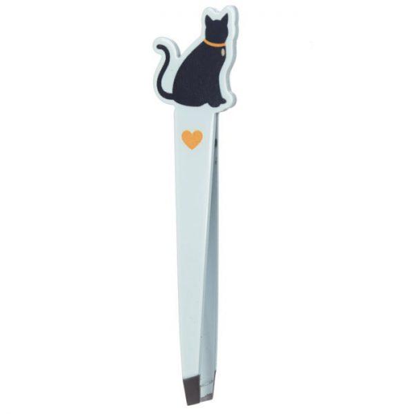 I Love My Cat Silhouette Pinzeta - žltá 1 - pre milovníkov mačiek