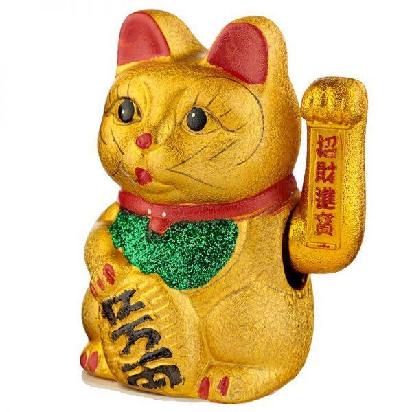 Maneki Neko Stredná mávajúca mačka pre šťastie 3 - pre milovníkov mačiek