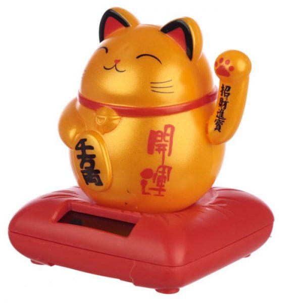 Solárna mávajúca mačka - zlatá 1 - pre milovníkov mačiek