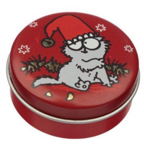 Simon's Cat Christmas Cat Balzam na pery v plechovke - Vianočné pečivo 1 - pre milovníkov mačiek