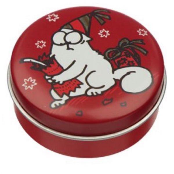 Simon's Cat Christmas Cat Balzam na pery v plechovke - Čokoláda 1 - pre milovníkov mačiek