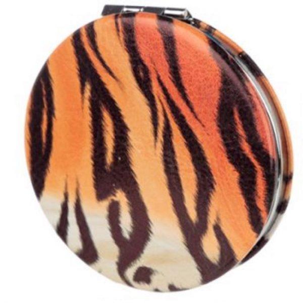 Spots & Stripes Big Cat Koženkové kompaktné zrkadlo Big Cat - pruhy 1 - pre milovníkov mačiek