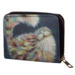 Kim Haskins Cat Malá peňaženka - modrá 1 - pre milovníkov mačiek